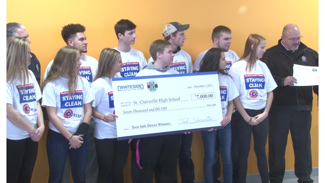 Local high school wins thousands in safe driving campaign