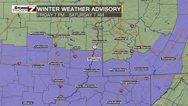 Winter Weather Advisory in effect Friday afternoon through Saturday morning