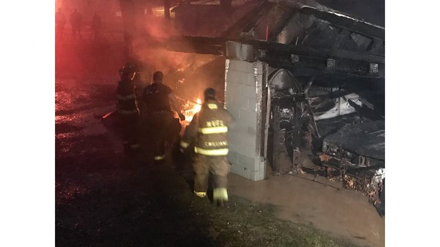 Garage a total loss after fire, explosion in Moundsville