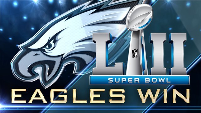 Image result for super bowl eagles win illustration