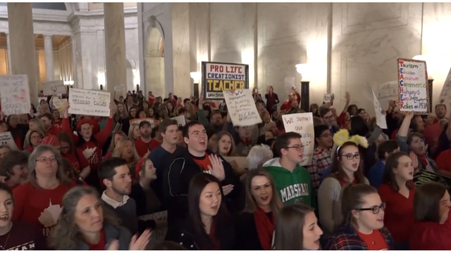 Teachers spar with lawmakers as pension bill passes committee