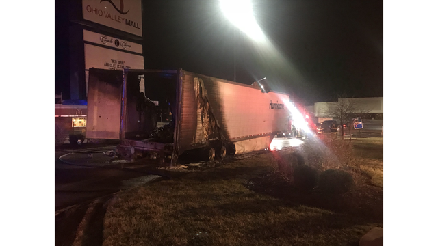 Main entrance, exit to Ohio Valley Mall shut down after tractor trailer fire