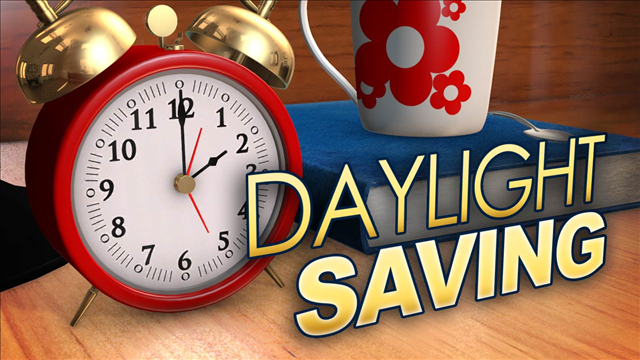 Daylight Saving time returns Sunday