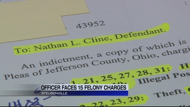 Steubenville police officer indicted on 41 charges