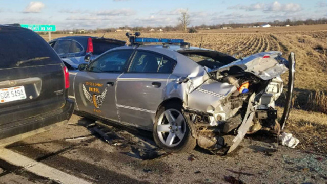 Ohio State Highway Patrol trooper hit by suspected drunk driver during stop