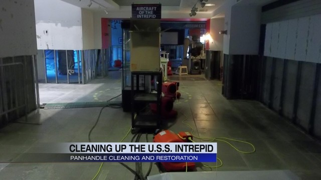 Panhandle Cleaning and Restoration helps restore World War II-era aircraft carrier