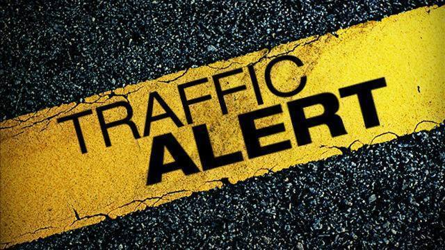Traffic is slowed after accident on Route 7